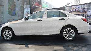 Mercedes-Benz C-Class studded with 3.5 lakh CZ diamonds for Bharat Diamond Week