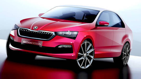 Next Generation Skoda Rapid design sketches unveiled - India launch expected in 2021