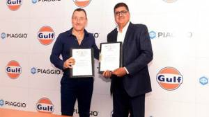 Gulf Oil and Piaggio together to launch lubricants for commercial vehicles in January 2020