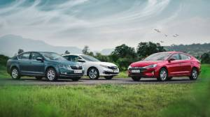 Comparison test: Hyundai Elantra facelift vs Honda Civic vs Skoda Octavia