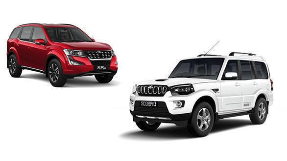 Current generation Mahindra XUV500 and Mahindra Scorpio on sale in India