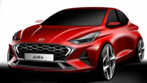 2020 Hyundai Aura sub-four-metre sedan shown in sketches ahead of December 19 unveil