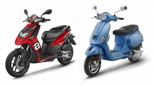BSVI Aprilia and Piaggio Vespa scooters introduced in India