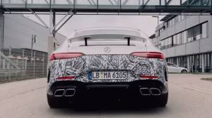 Plug-in hybrid AMG GT four-door coming soon, teased in video