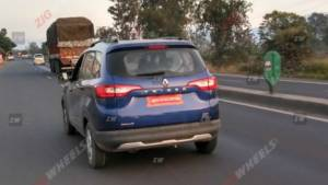 Renault Triber AMT spied ahead of Auto Expo debut