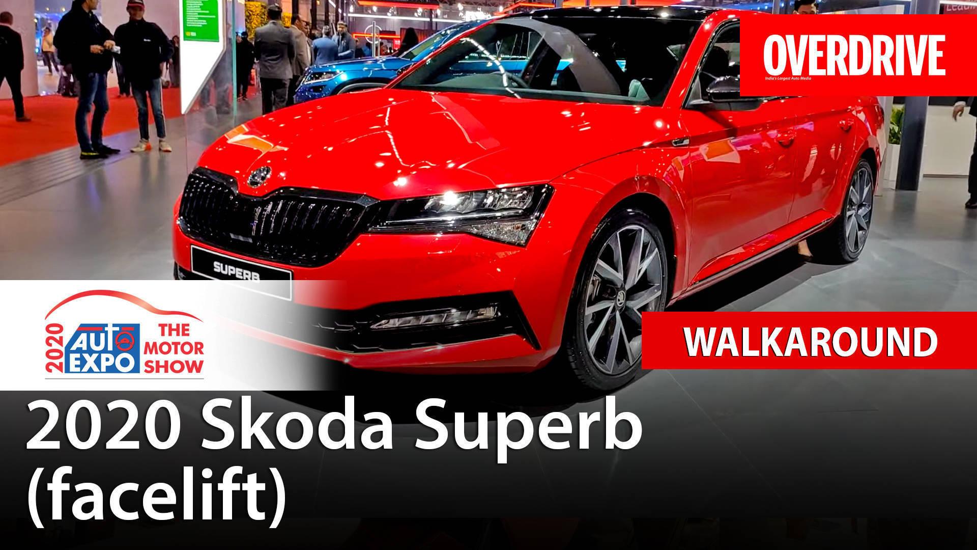 2020 Skoda Superb (facelift) - Auto Expo 2020