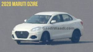 2020 Maruti Suzuki Dzire facelift spied testing for the first time