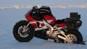 Taking a 2001 Yamaha R1 to the North Pole!