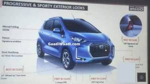 2020 Datsun Redi-Go facelift leaked ahead of India launch
