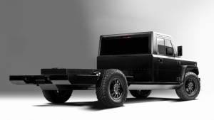 Bollinger showcases the B2 Chassis Cab electric work truck