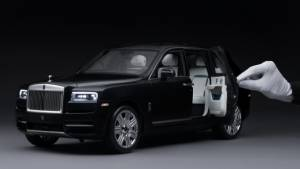 Handbuilt Rolls-Royce Cullinan 1:8 scale model shown