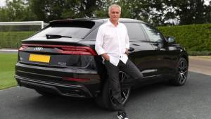 Tottenham Hotspur manager Jose Mourinho takes delivery of an Audi Q8