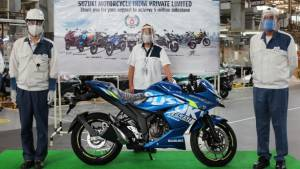 Suzuki rolls out 5 millionth motorcycle from its Gurugram plant