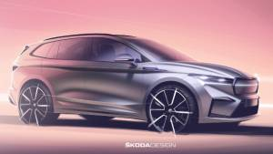 Skoda Enyaq iV electric SUV revealed in design sketches ahead of September 1 reveal