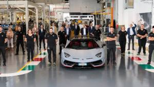Over 10,000 units of the Lamborghini Aventador have now been made