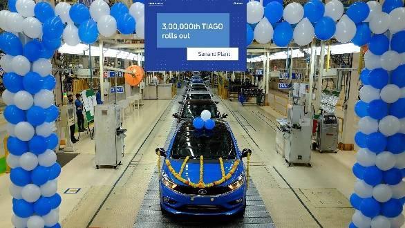 Three lakh units production milestone achieved for the Tata Tiago