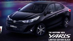 Toyota Yaris Black limited edition revealed in India