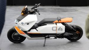 BMW Motorrad Definition CE 04 electric concept is not too far from reality, has a range of 120-130km