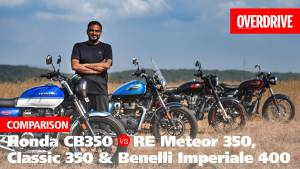 Honda H'ness CB350 vs Royal Enfield Meteor 350, Classic 350 & Benelli Imperiale 400