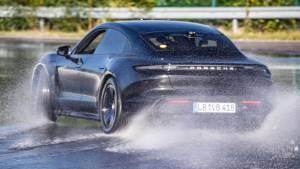 Porsche Taycan sets world record going sideways