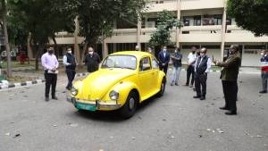 Classic Volkswagen Beetle converted to EV by CERCA