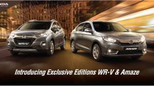 Honda Amaze and WR-V Exclusive Editions launched in India, prices start from Rs 7.96 lakh