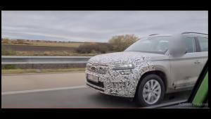 2021 Skoda Kodiaq facelift SUV spotted testing