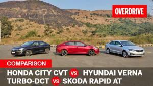 Honda City vs Hyundai Verna vs Skoda Rapid | Automatic sedans comparo