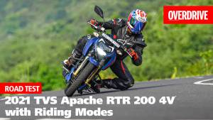2021 TVS Apache RTR 200 4V review - now comes with adjustable suspension & riding modes!