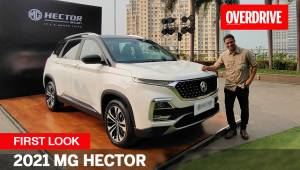 2021 MG Hector Facelift - First Look