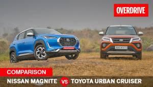 Nissan Magnite vs Toyota Urban Cruiser automatic compact SUV comparo