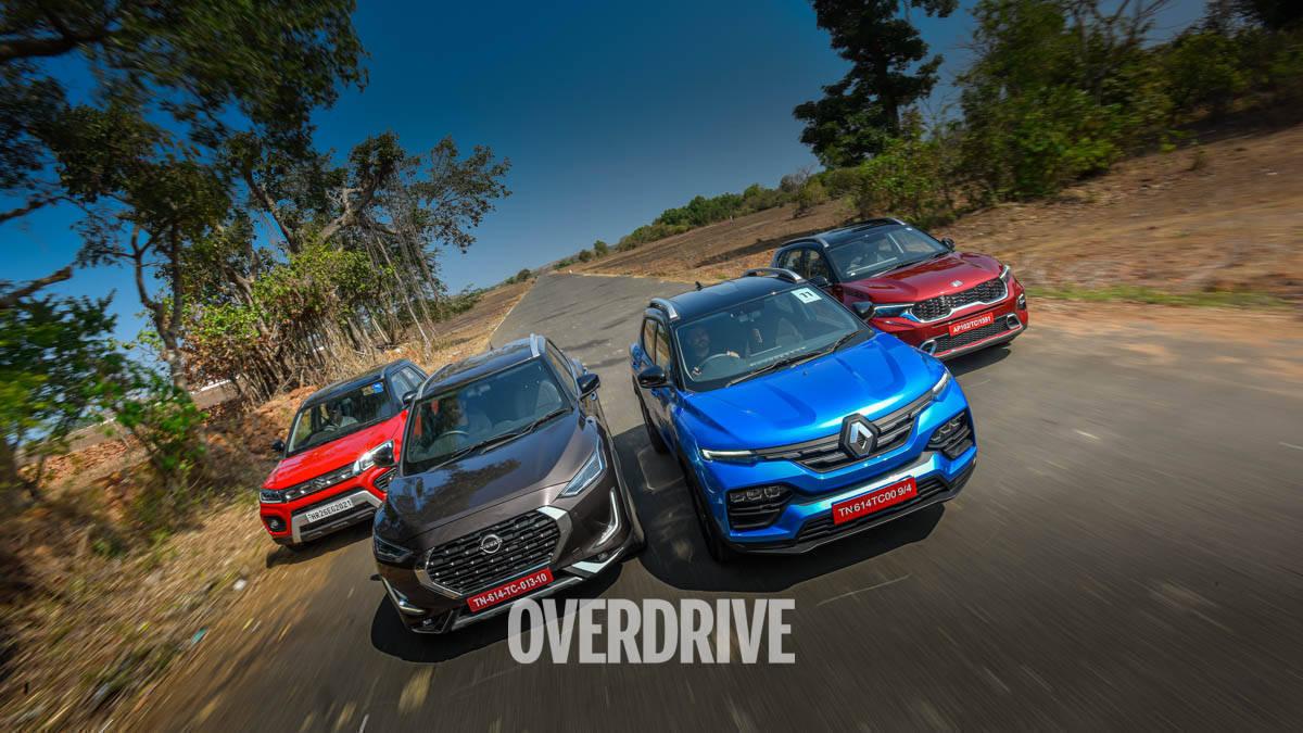 Comparison review: Renault Kiger vs Nissan Magnite vs MS Vitara Brezza vs Kia Sonet
