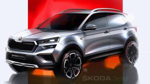 Production-spec Skoda Kushaq revealed in design sketches ahead of March debut