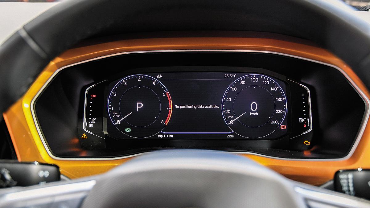 Volkswagen Taigun digital instrument cluster