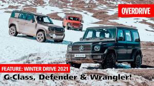 Winter Drive 2021: Back to the snow-clad mountains with the G-Class, Defender & Wrangler!