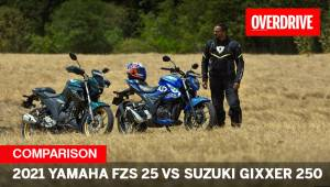 2021 Yamaha FZS 25 vs Suzuki Gixxer 250 - Jap power commuters for the masses