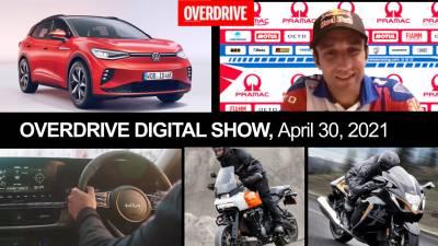 Chat with Ducati's MotoGP rider, VW ID.4 GTX, Kona N, H-D Pan America 1250 & more