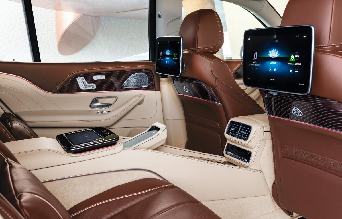 2021 Mercedes-Maybach GLS 600 rear seat entertainment