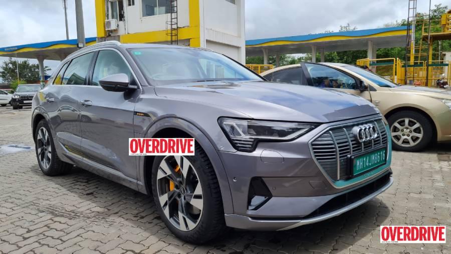 Audi e-tron electric SUV spied India front