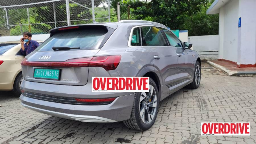 Audi e-tron electric SUV spied India rear