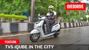 Feature - TVS iQube in the city