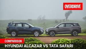 Hyundai Alcazar vs Tata Safari comparo | Mid-size 6-seater SUVs