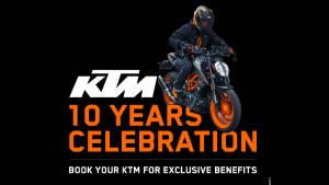 KTM celebrates a decade in India by announcing added ownership benefits