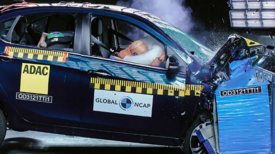 Tata Tigor EV crash test