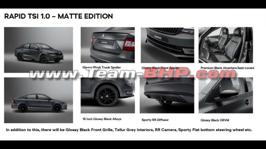 2021 Skoda Rapid Matte Edition features
