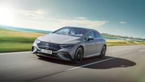 Mercedes Benz unveil the EQE saloon ahead of its debut at the IAA exhibition in Munich