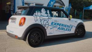 Michelin tests out its puncture-proof tyres for the first time in public