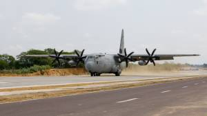 IAF C-130J Super Hercules and Sukhoi aircraft land on newly constructed national highway in Rajasthan
