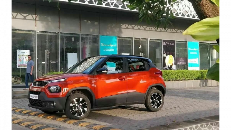 Tata Punch exterior front leaked