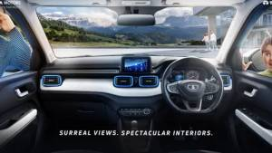 2021 Tata Punch mini SUV interiors officially revealed ahead of launch
